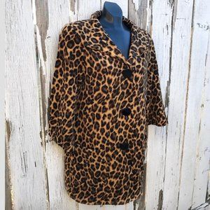 Women's WD.NY Mid Length Leopard Large Button